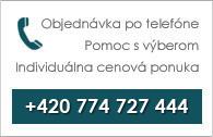 Objednávka po telefóne +420 774 300 057